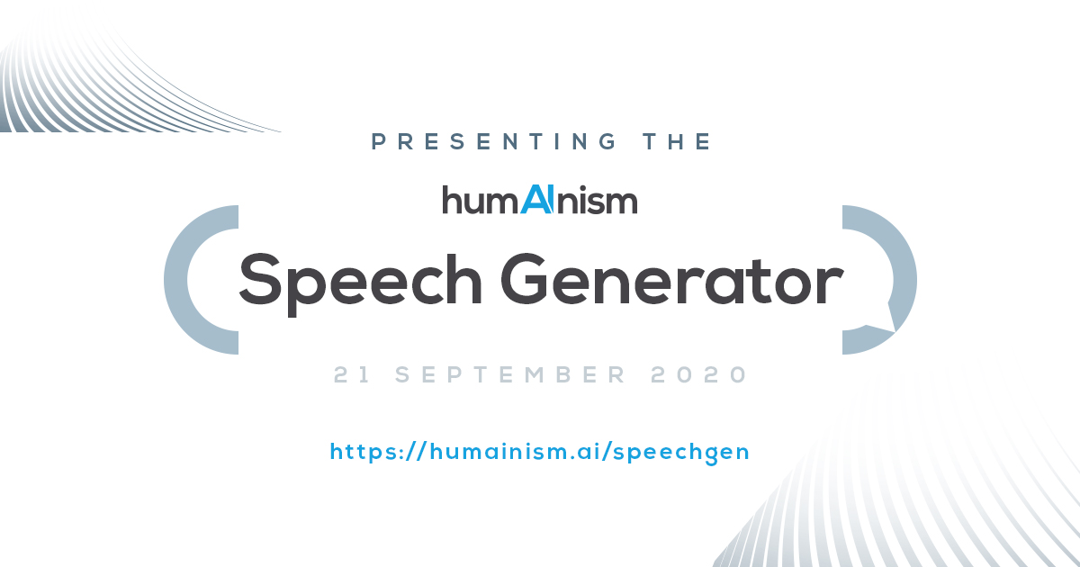 humainism speech generator